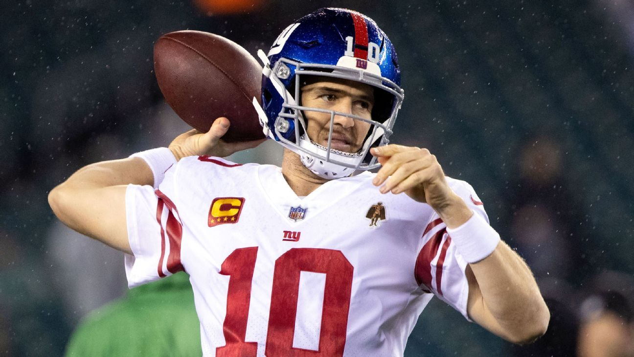 Giants' Eli Manning to start again as Daniel Jones deals with ankle sprain