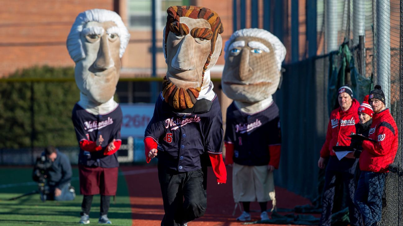 People try out to become a member of the 2020 Racing Presidents team for the Washington Nationals
