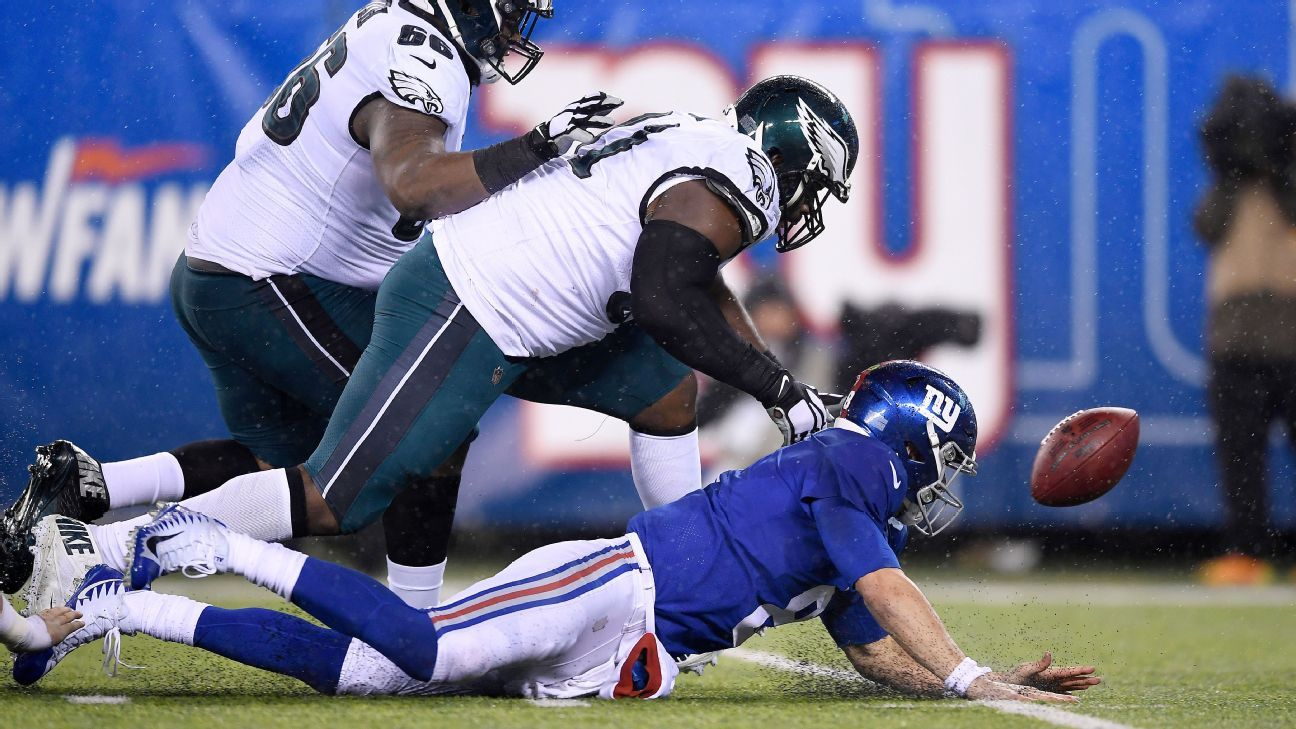 NFC East doormat: Giants trying to shed ugly label vs. Eagles