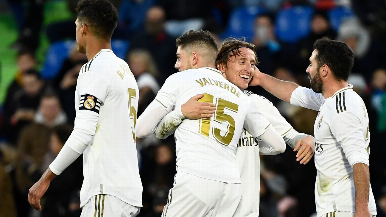 Getafe vs. Real Madrid - Reporte del Partido - 4 enero, 2020 - ESPN