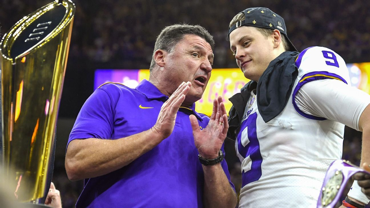 Joe Burrow, Ed Orgeron made history, won a title and changed LSU forever