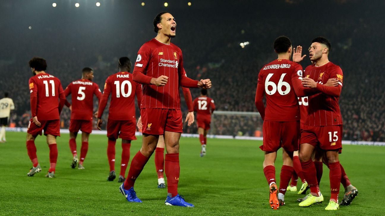 Van Dijk 9/10, Alexander-Arnold 8/10 as Liverpool top United