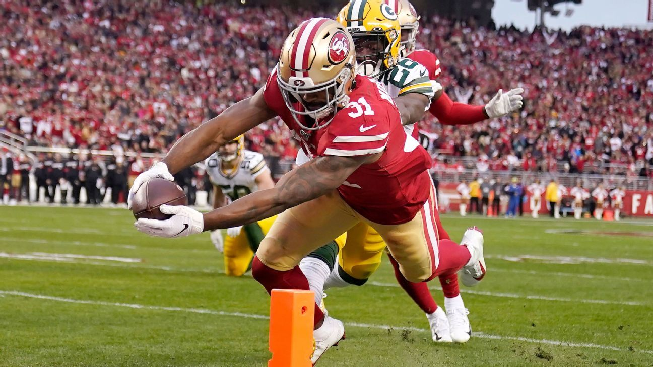 Raheem Mostert's four rushing TDs give 49ers commanding lead