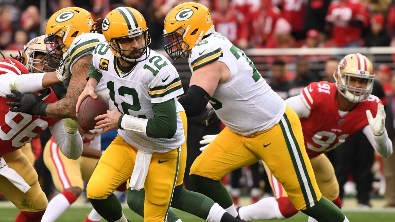 Aaron Rodgers upbeat after season ends 1 win short of Super Bowl