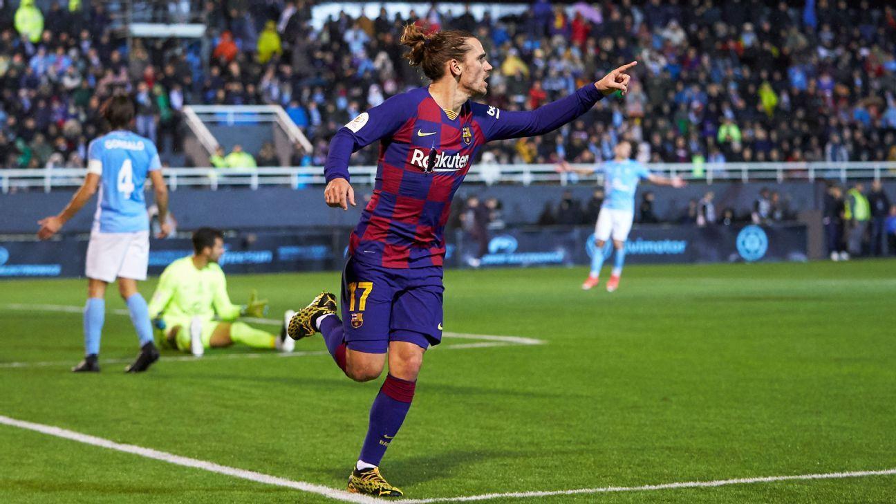 Griezmann 8/10 as Barca narrowly avoid Copa del Rey shocker - ESPN