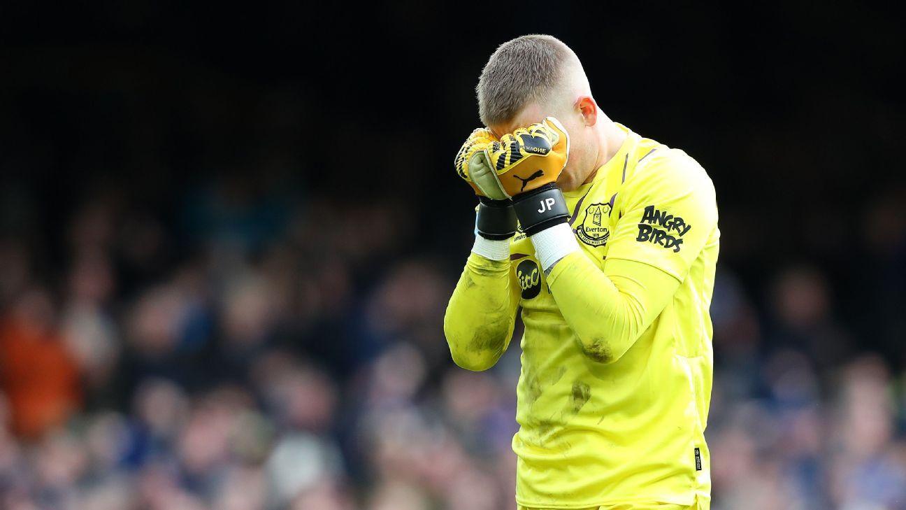Premier League review England has Pickford dilemma Man City face fixture concerns - ESPN