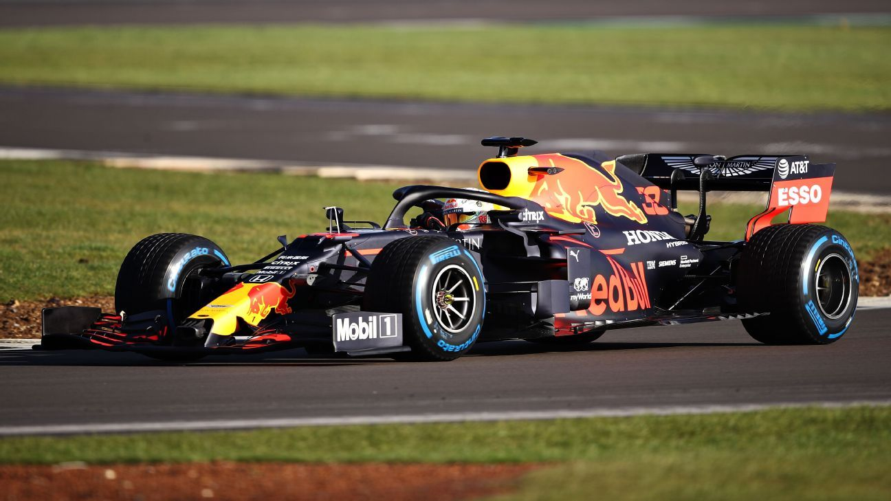 Red Bull unveils new car, completes day at Silverstone