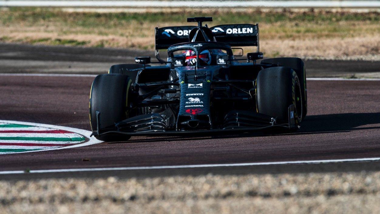 New Alfa Romeo F1 car hits the track in snakeskin livery
