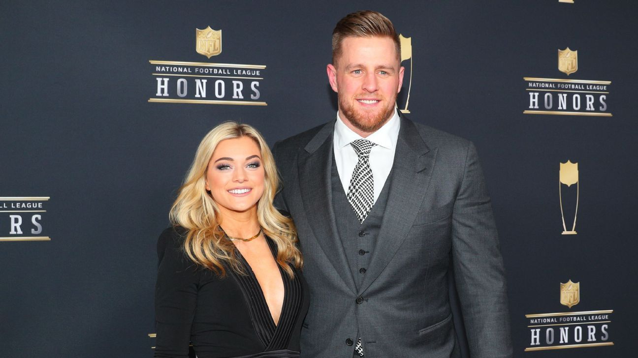 Texans' Watt has 'best day,' marries NWSL's Ohai