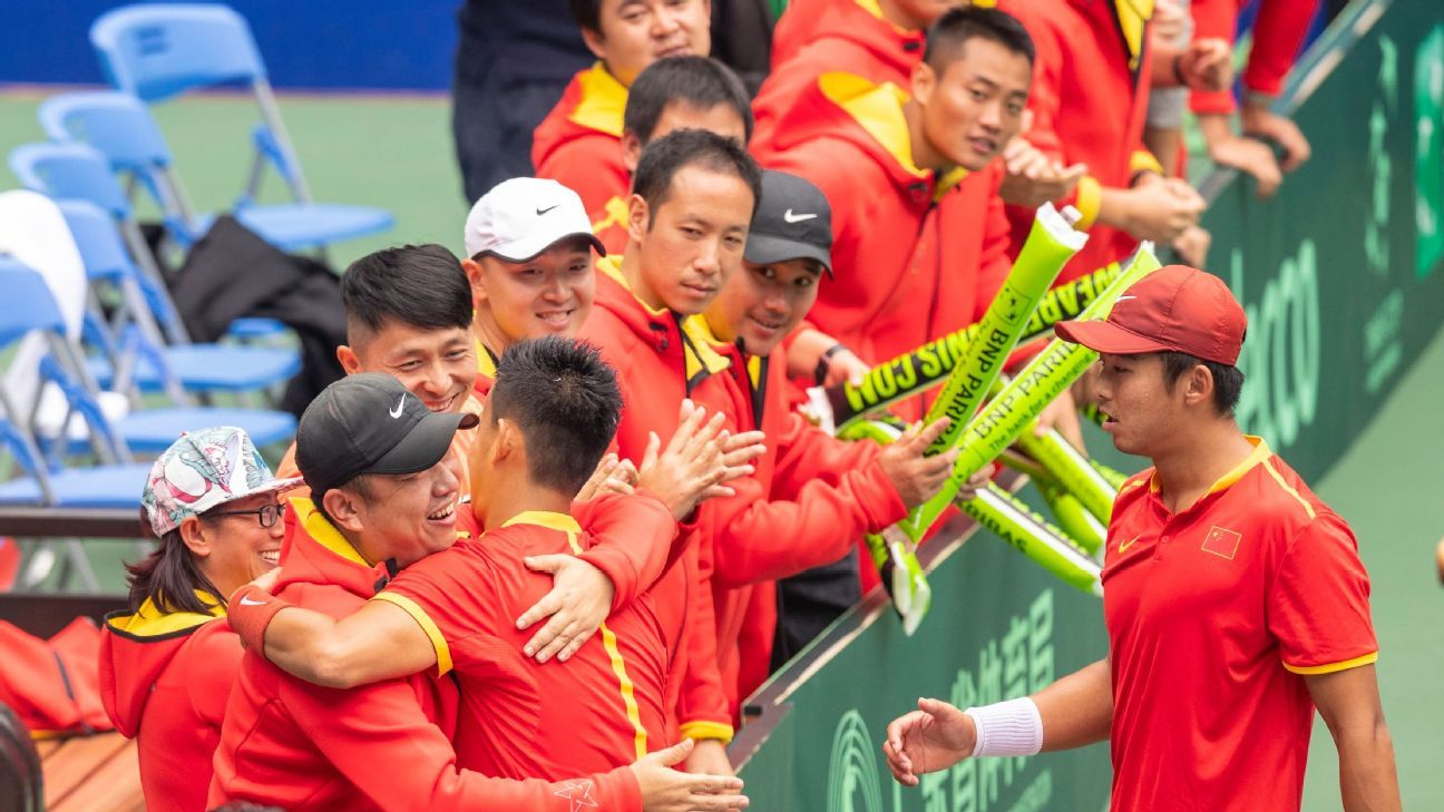 China forfeits Davis Cup tie because of virus