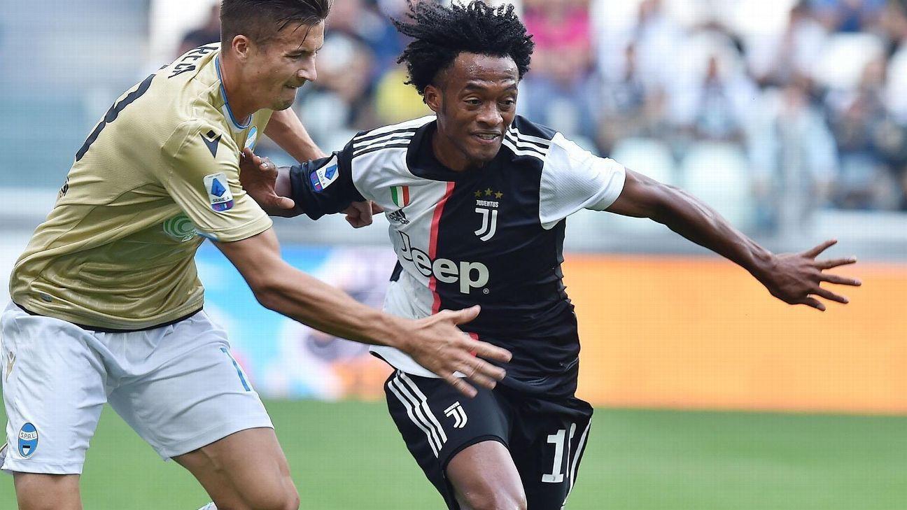 Juventus con Cuadrado visita a Sampdoria y necesita ganar para seguir de cerca en la pelea por el título