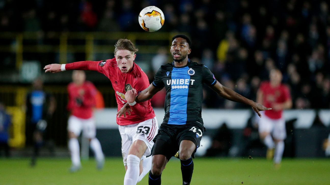 Solskjaer blames ball for United draw at Brugge