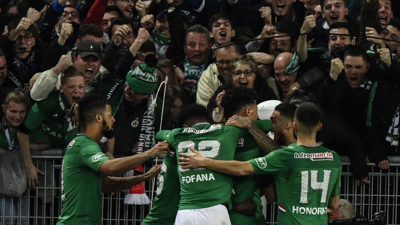 Saint Etienne Vs Stade Rennes Football Match Report March 6