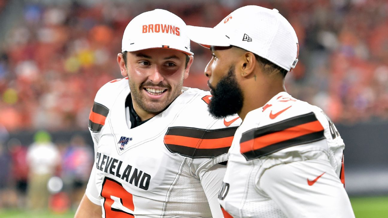 Browns' Mayfield, OBJ active against Steelers