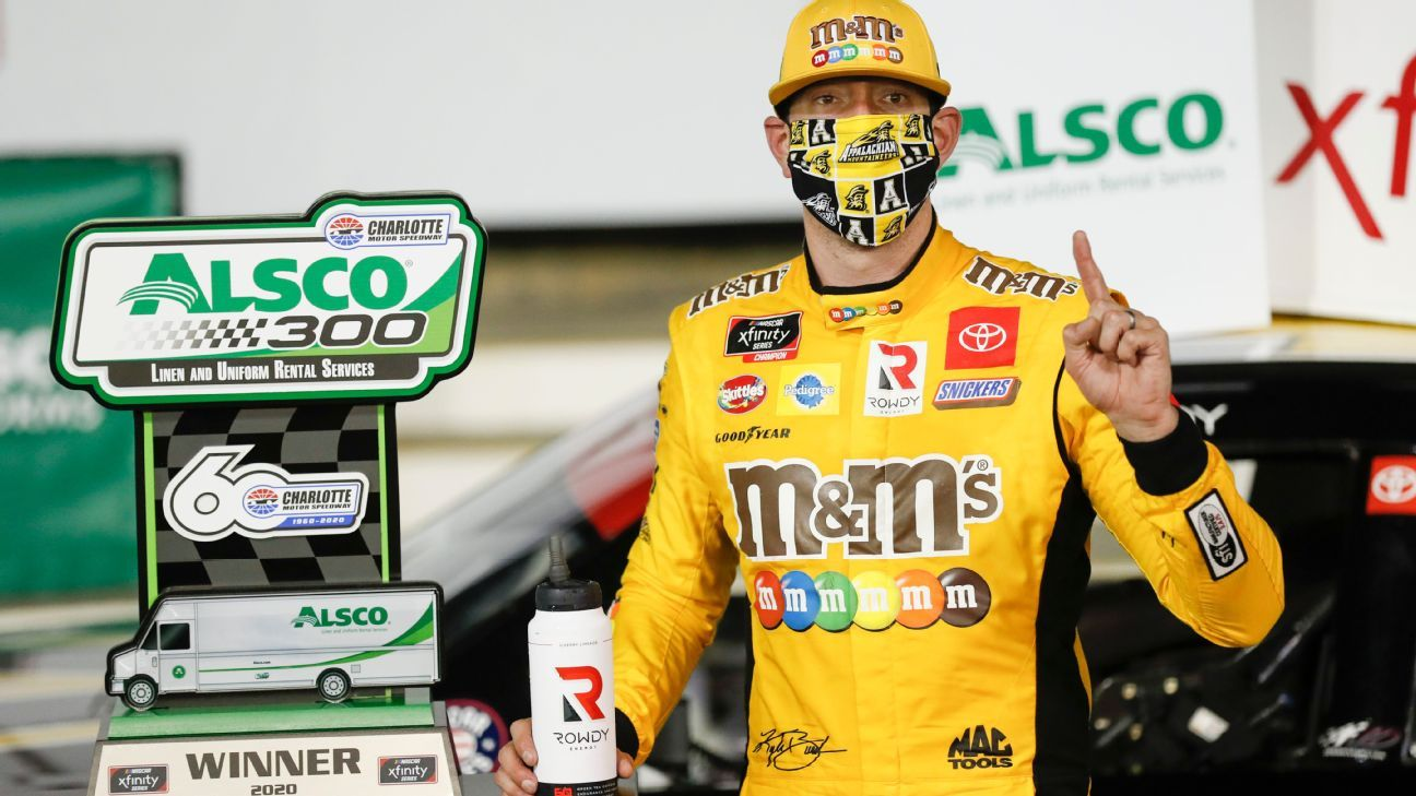 Kyle Busch passes Austin Cindric in overtime to win Xfinity race at Charlotte