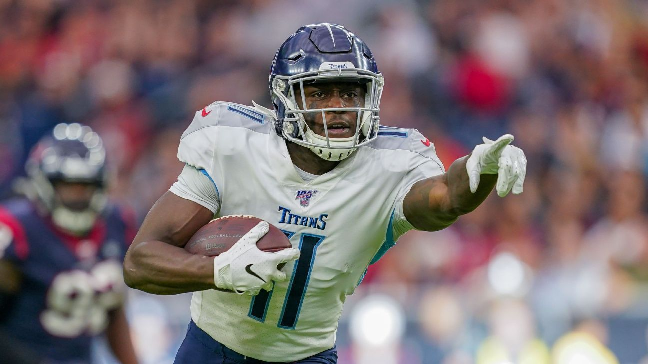Titans WR Brown out vs Jags with bruised knee