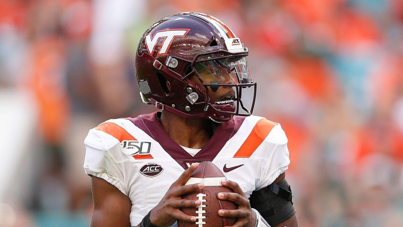 Virginia Tech To Start Qb Hendon Hooker But Braxton Burmeister Also Will Play