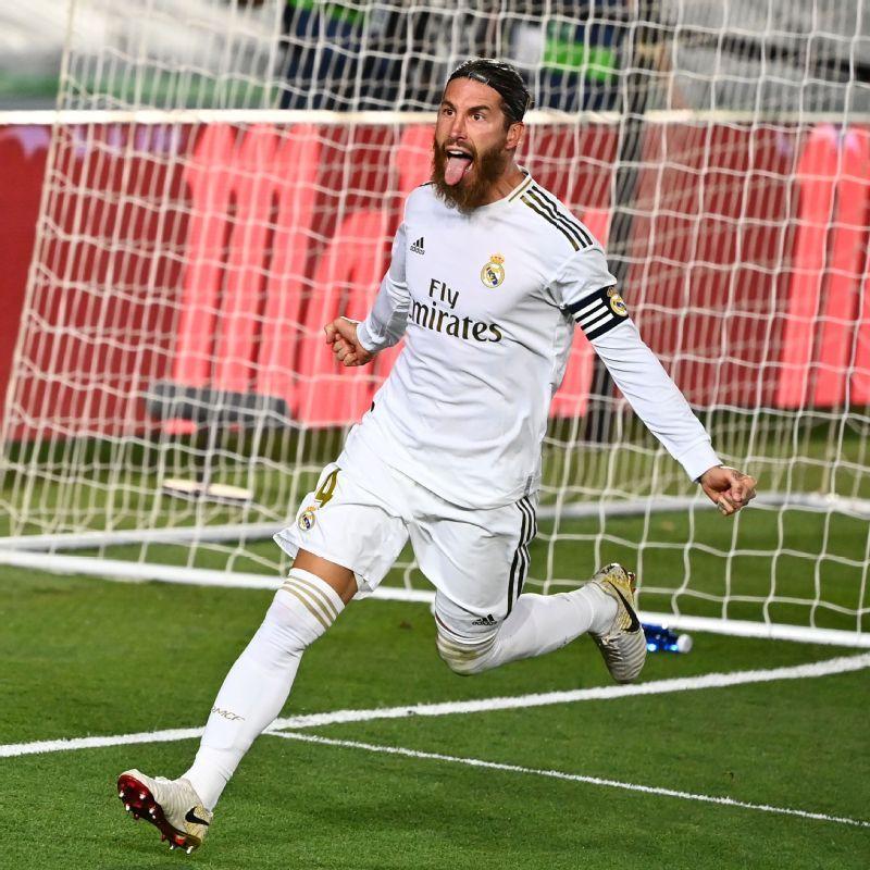 Real Madrid 1-0 Getafe: Sergio Ramos Scores Again to Take ...   Real Madrid- Getafe
