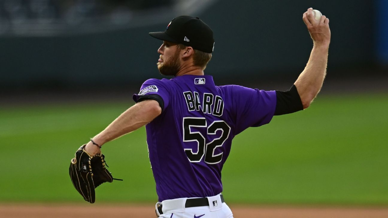 Rockies' Bard earns 1st big league save since '11