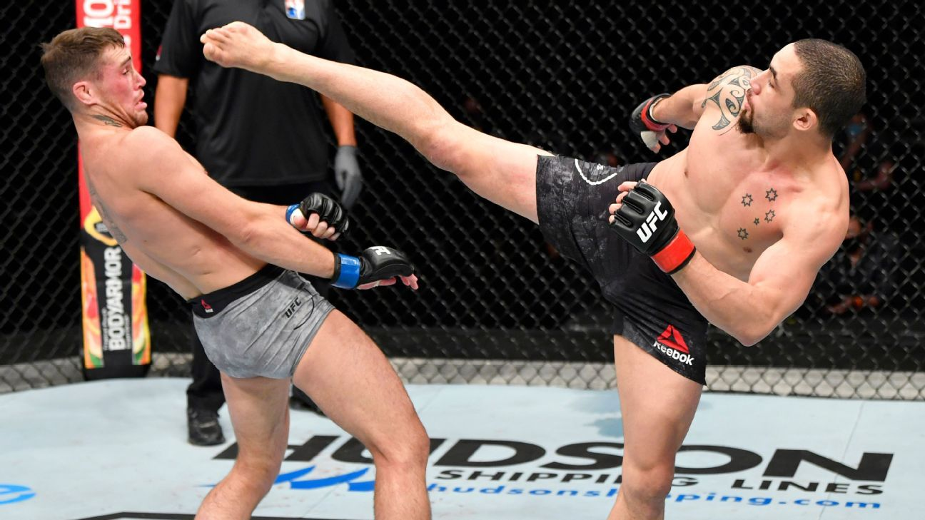 After almost finishing Robert Whittaker in the first round, Darren Till failed to keep up the same intensity on the feet by the championship rounds | UFC Fight Night 191