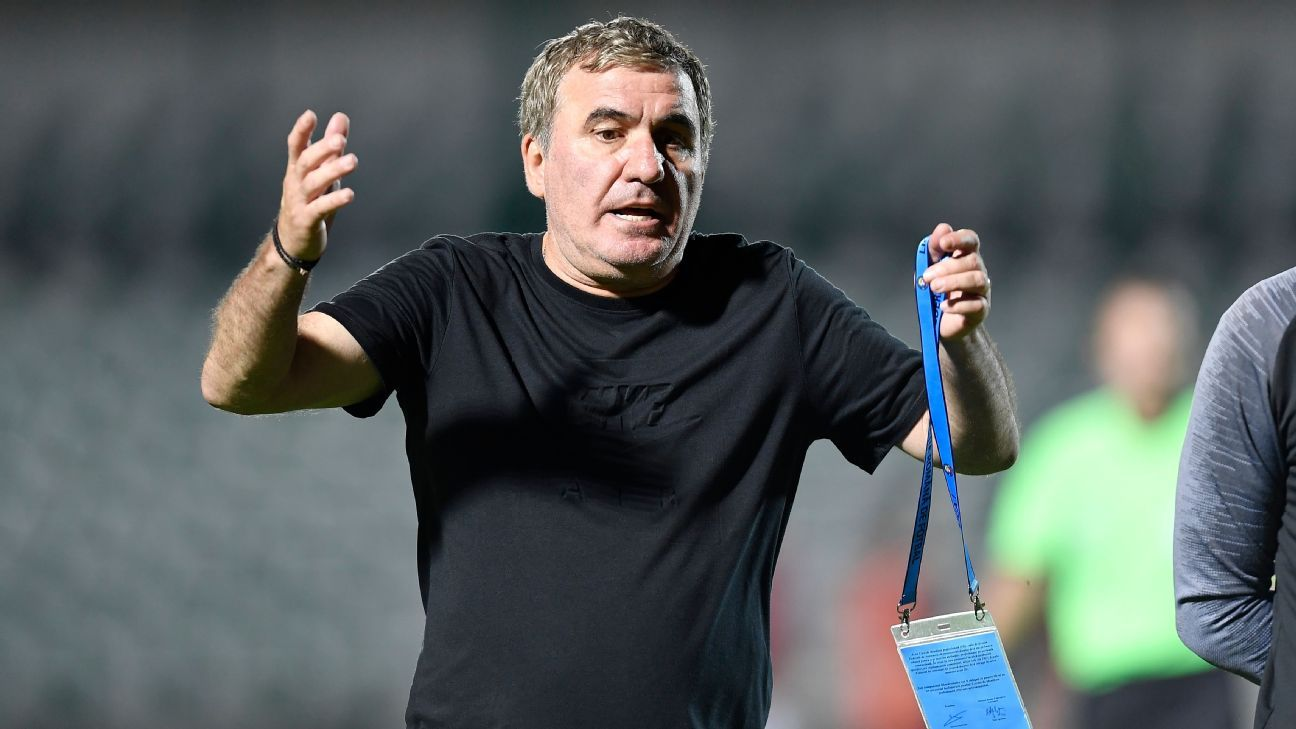 Romania legend Hagi sacks himself as manager of his own club - ESPN