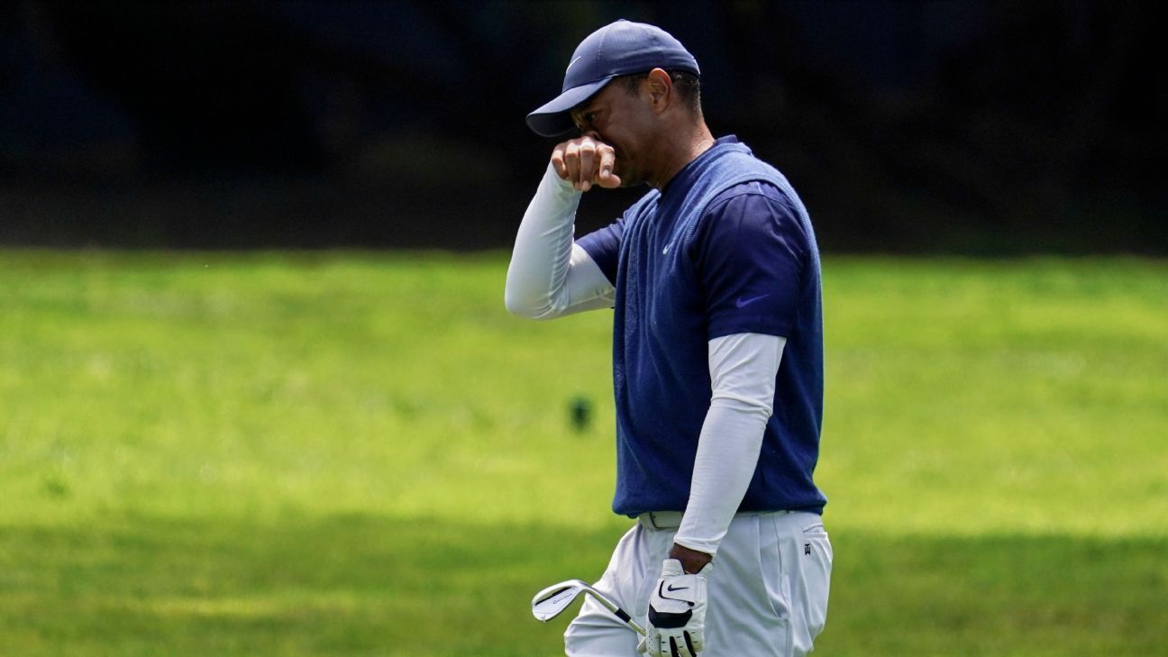 Tiger Woods plagued by putting woes yet again at PGA Championship – ESPN