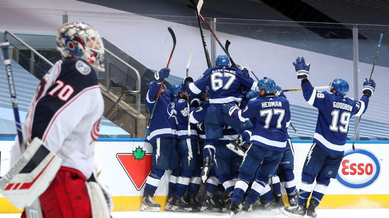 Sports world reacts to Lightning-Blue Jackets five-OT thriller