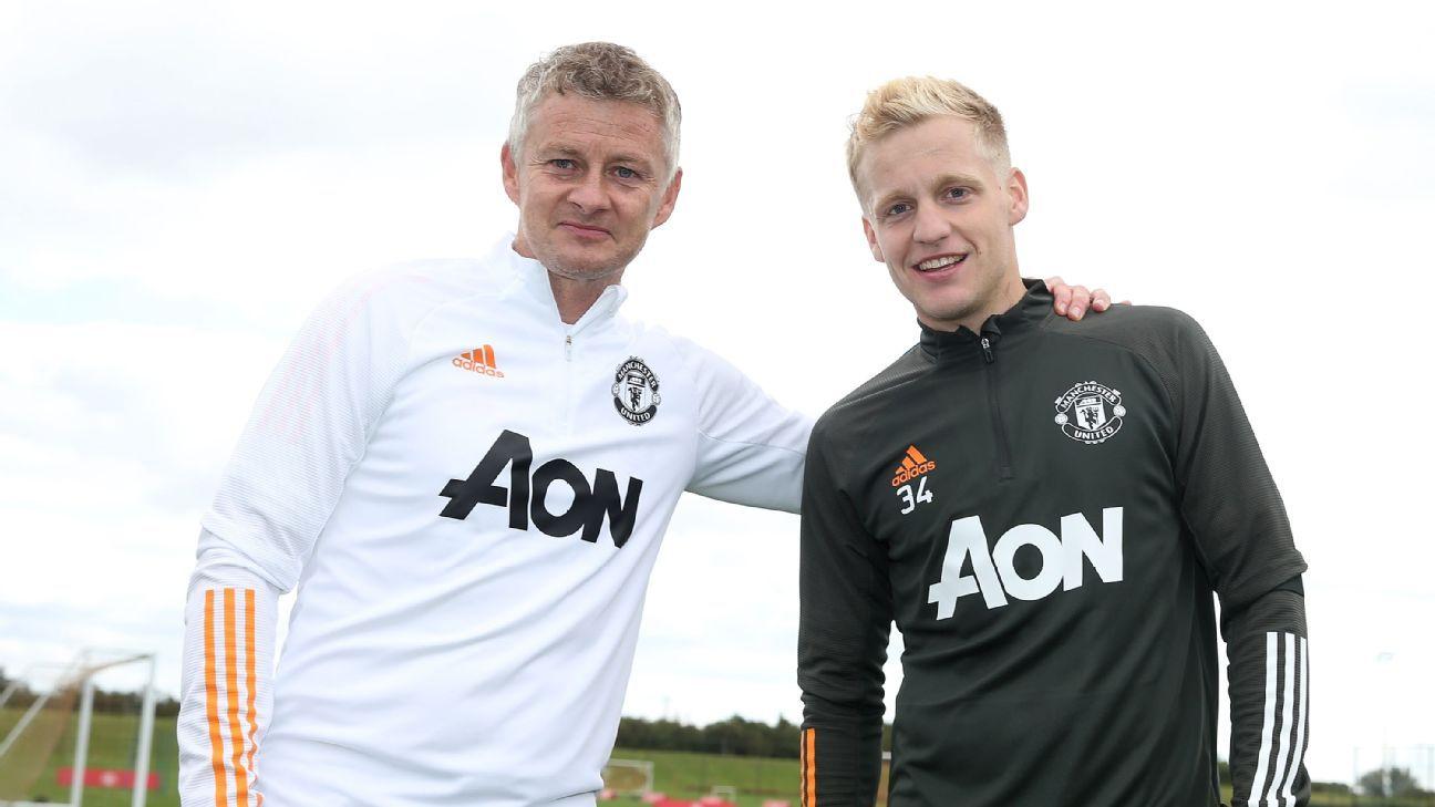 Man United manager Solskjaer blasts Van de Beek criticism - ESPN