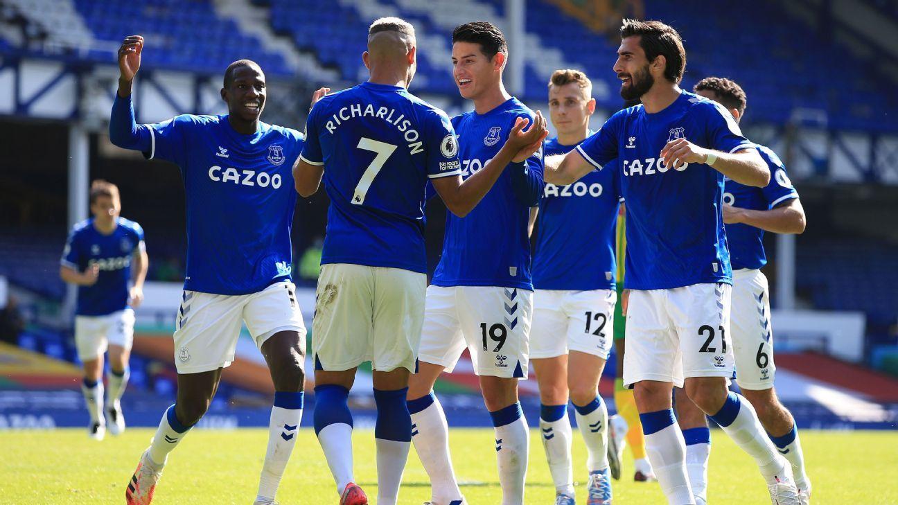 Everton llega líder de la Premier League y en condiciones de cortar la mala racha en el derby contra Liverpool