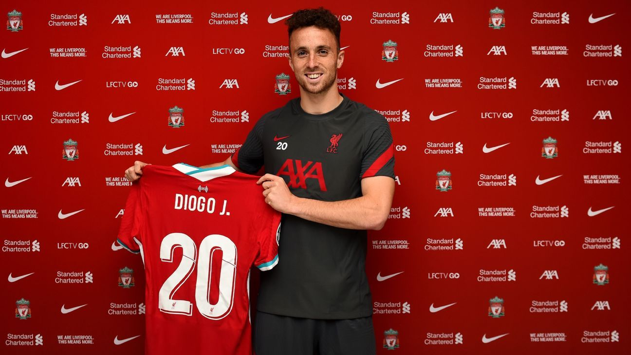 Liverpool complete signing of Jota from Wolves - ESPN