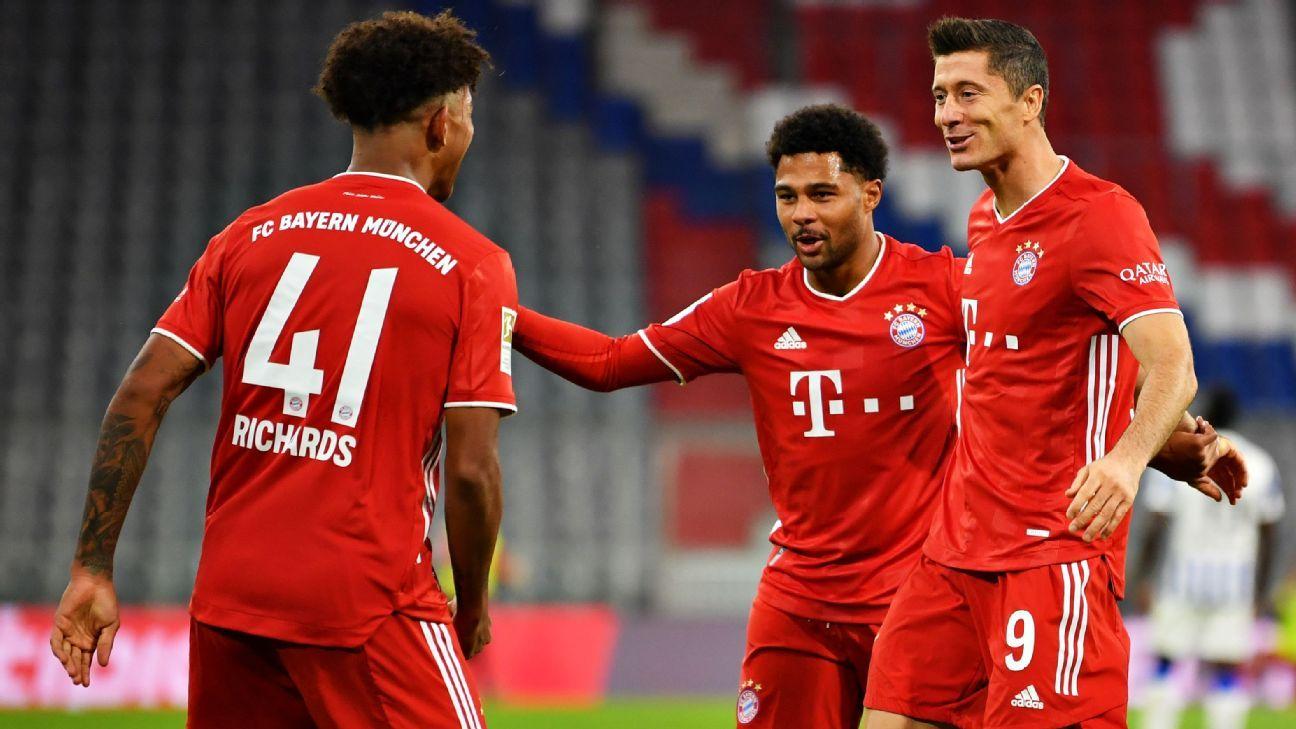 Bayern Munich Vs Hertha Berlin Football Match Report October 4 2020 Espn