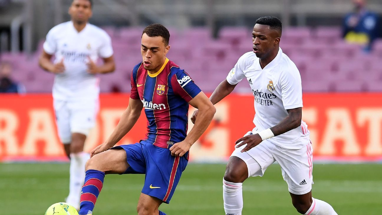 Sergino Dest Impresses But Barcelona Slump To Woeful Clasico Defeat Against Real Madrid