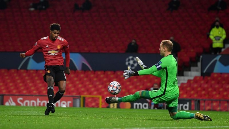 Rashford hits hat trick as Man United thump Leipzig