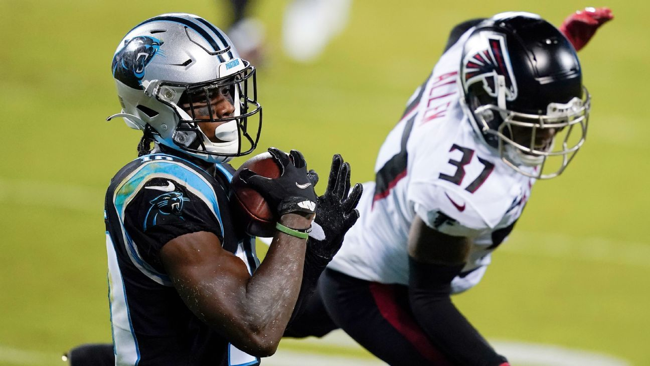 Panthers' Curtis Samuel scores on flea-flicker for second TD vs. Falcons – ESPN