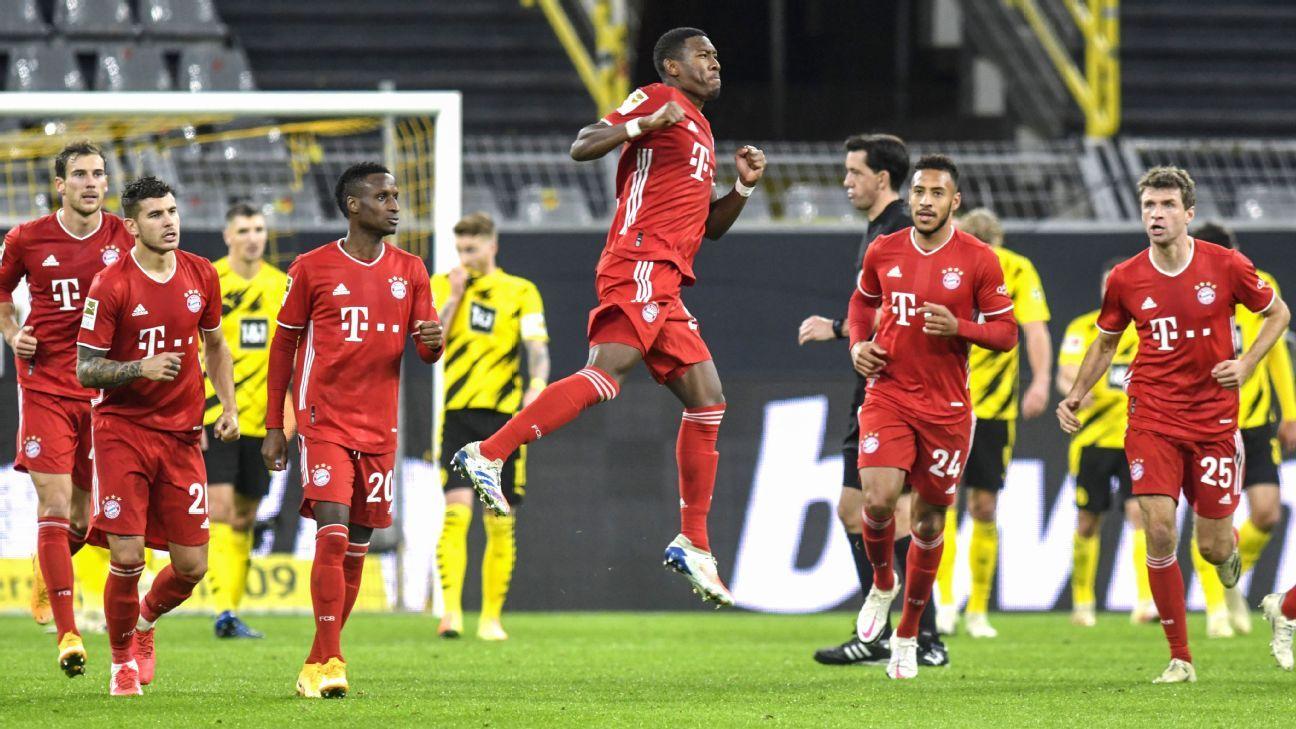 Borussia Dortmund Vs Bayern Munich Football Match Summary November 7 2020 Espn