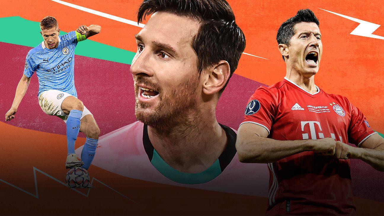 ESPN FC 100: Liverpool y Bayern Múnich dominan, y Messi sigue en la cima en nuestro ranking de los mejores futbolistas de 2020