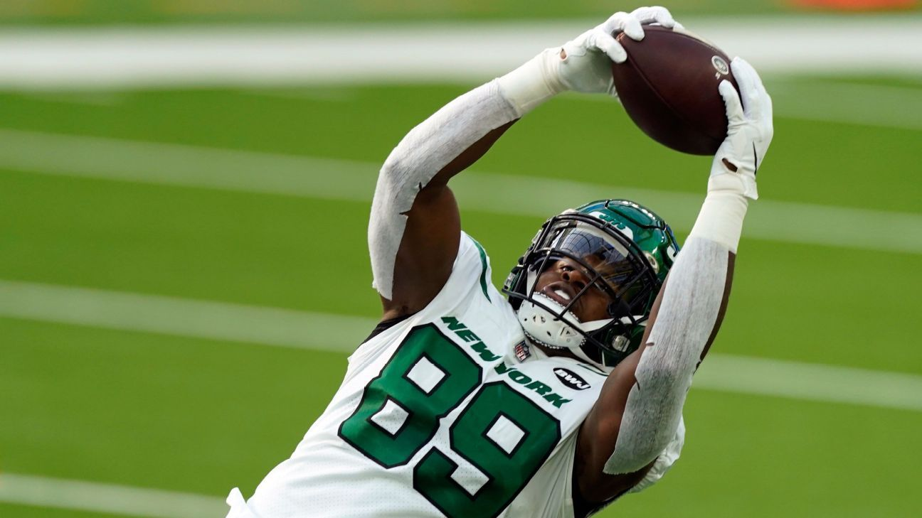 Minnesota Vikings acquire TE Chris Herndon from New York Jets, sources say