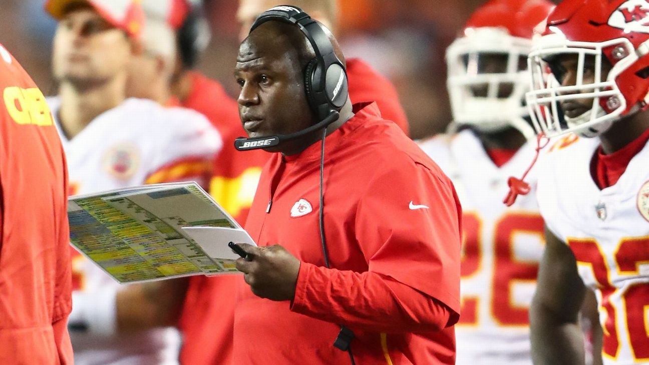 Chiefs OC Eric Bieniemy won't 'dwell in pity' over not getting head-coaching job – ESPN