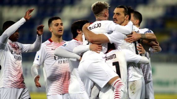 Cagliari Vs Ac Milan Football Match Report January 18 2021 Espn