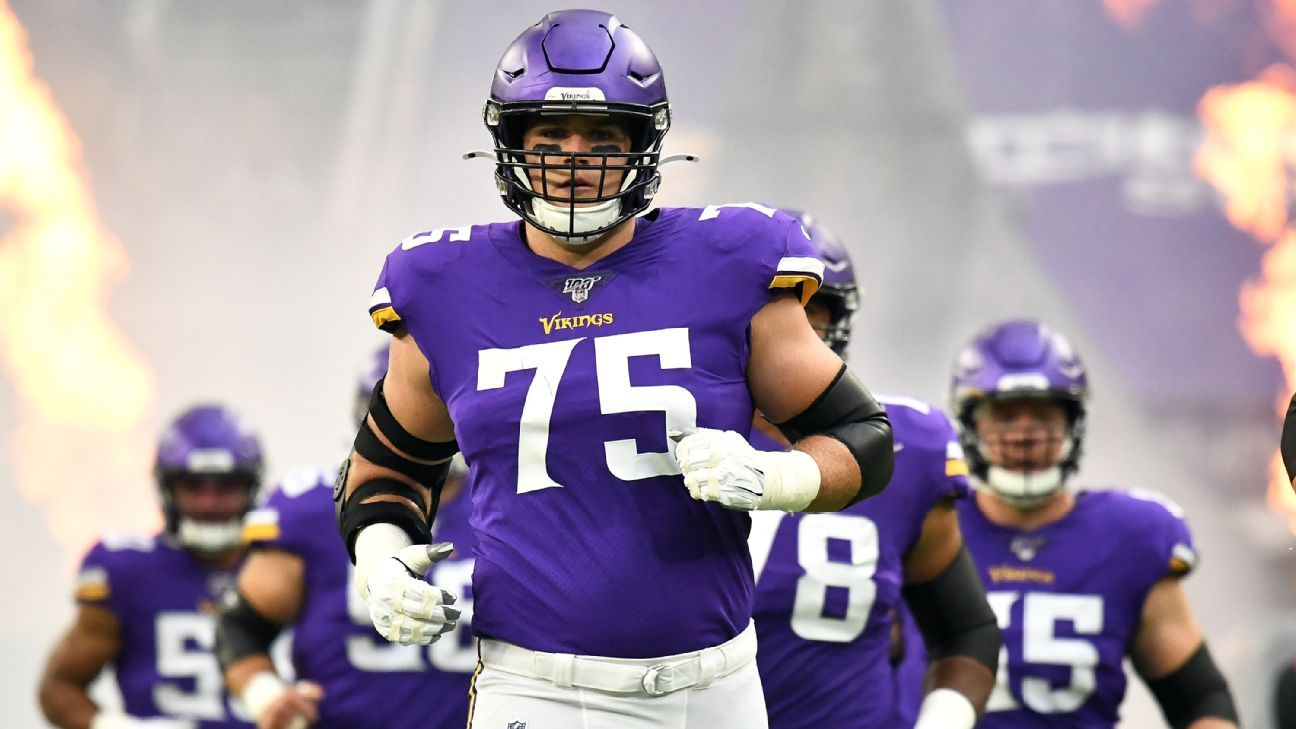 Brian O'Neill signs five-year extension with Minnesota Vikings worth $92.5 million, source says