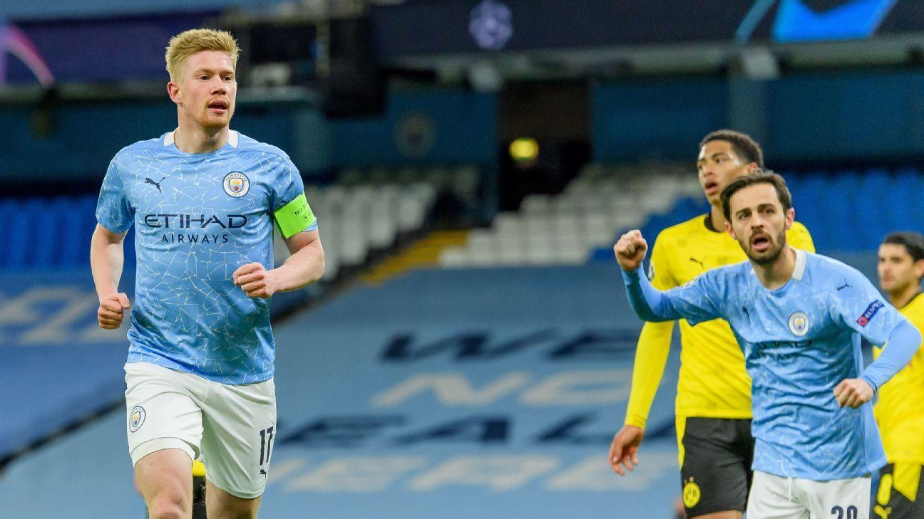 Manchester City vs. Borussia Dortmund - Reporte del Partido - 6 abril, 2021 - ESPN