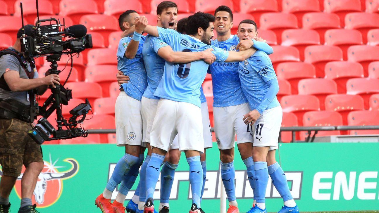 Manchester City Vs Tottenham Hotspur Football Match Report April 25 2021 Espn