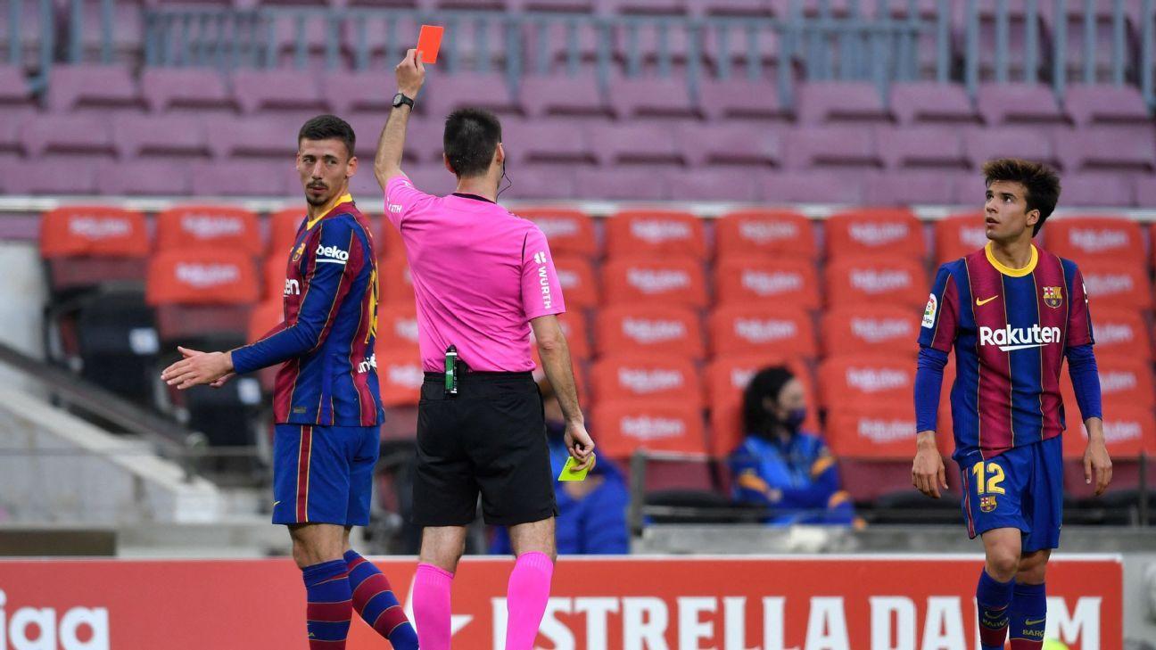 Barcelona's Lenglet 4/10 as faint title race hopes are ended