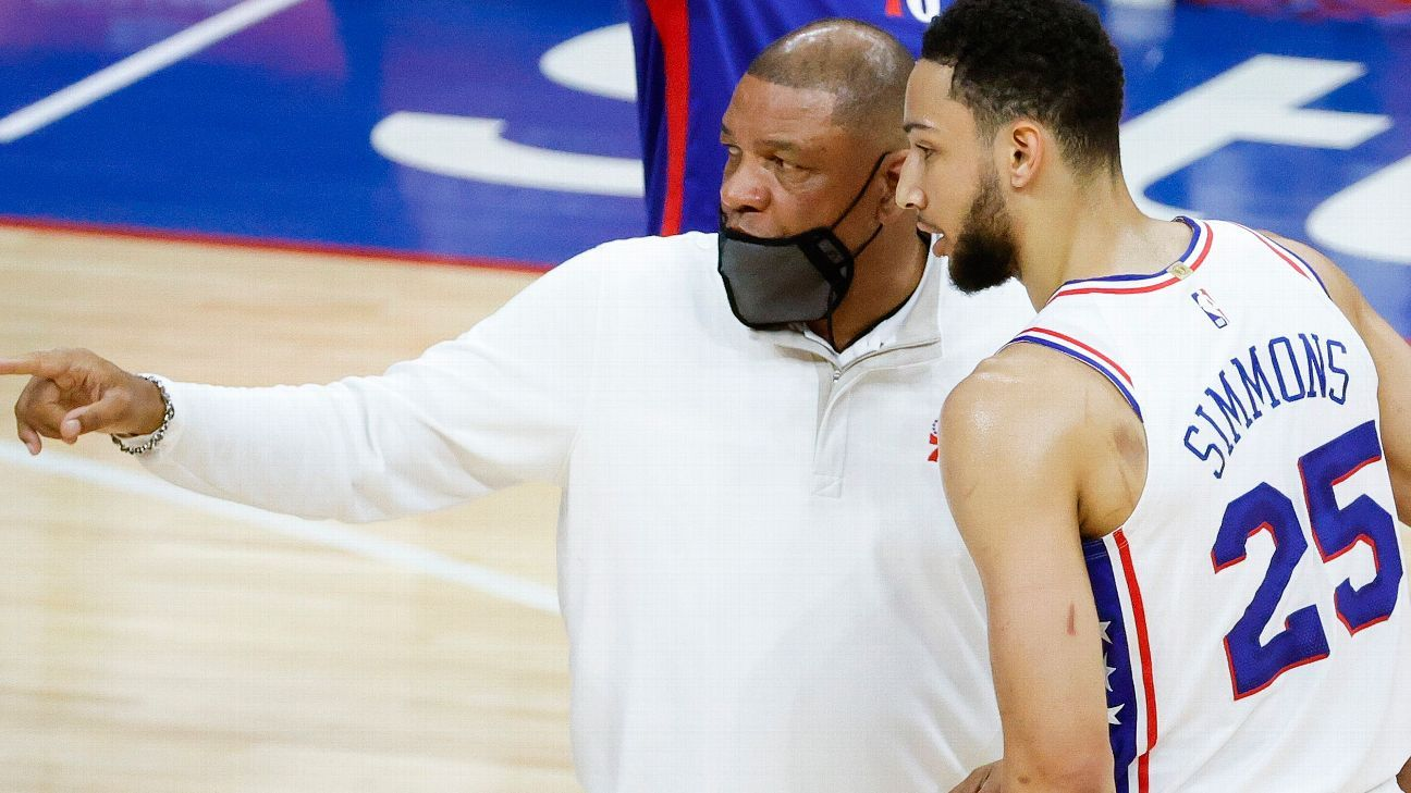 Philadelphia 76ers' Doc Rivers wants to convince Ben Simmons to stay