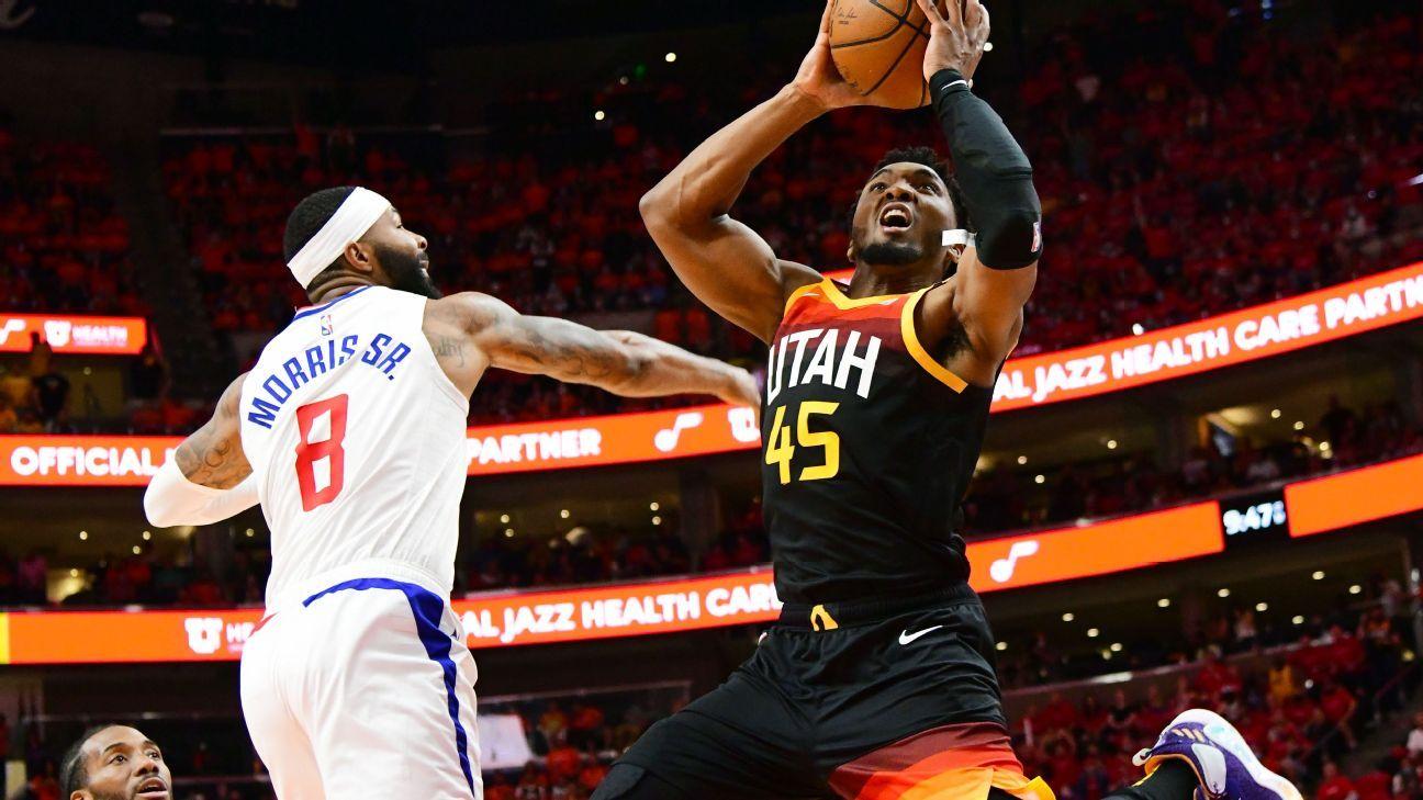 Donovan Mitchell takes over scores 45 to spark Utah Jazz rally in Game 1 – ESPN