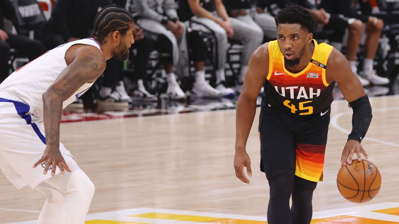 Donovan Mitchell scores 37 to lead Utah Jazz to Game 2 win says he's 'fine' after late ankle injury – ESPN