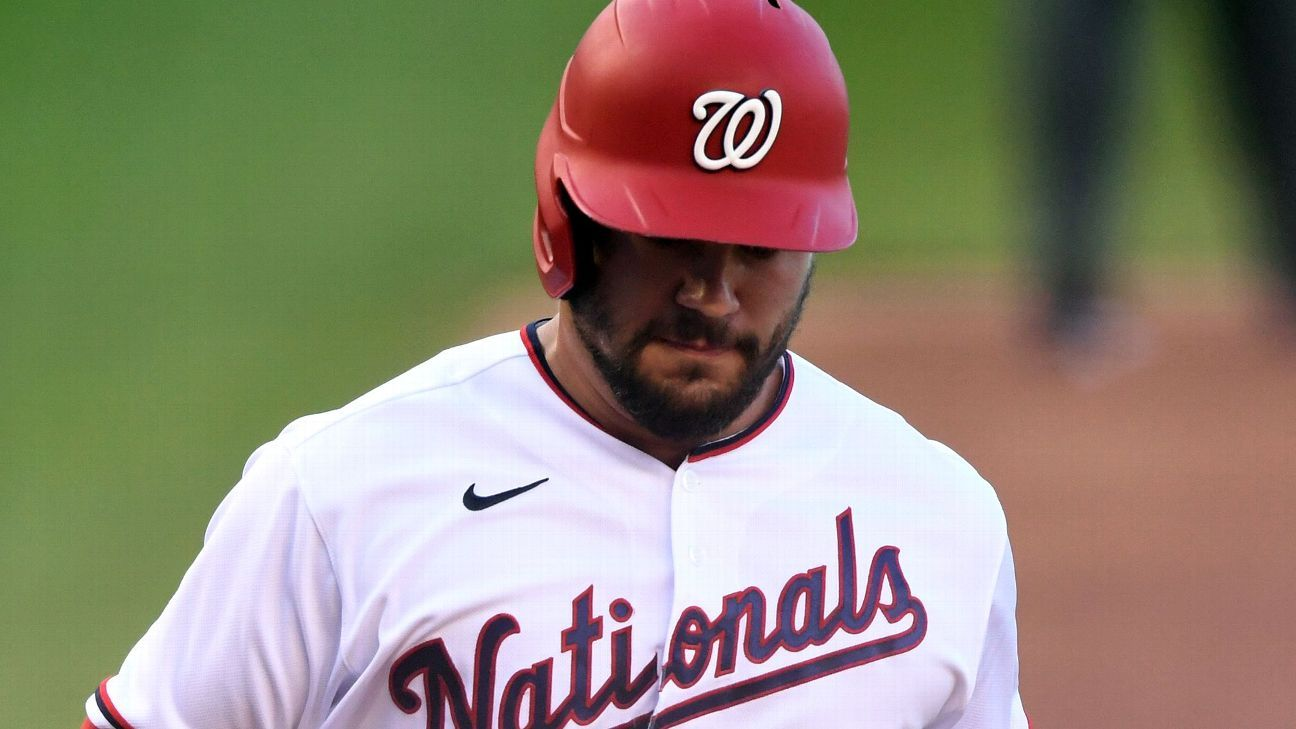 It's clearly still 'clicking' for Kyle Schwarber, as Washington Nationals' leadoff hitter launches another home run in victory
