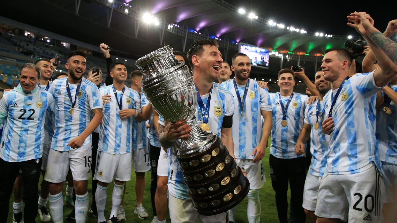 Argentina's team effort over Brazil leads Lionel Messi to Copa America glory