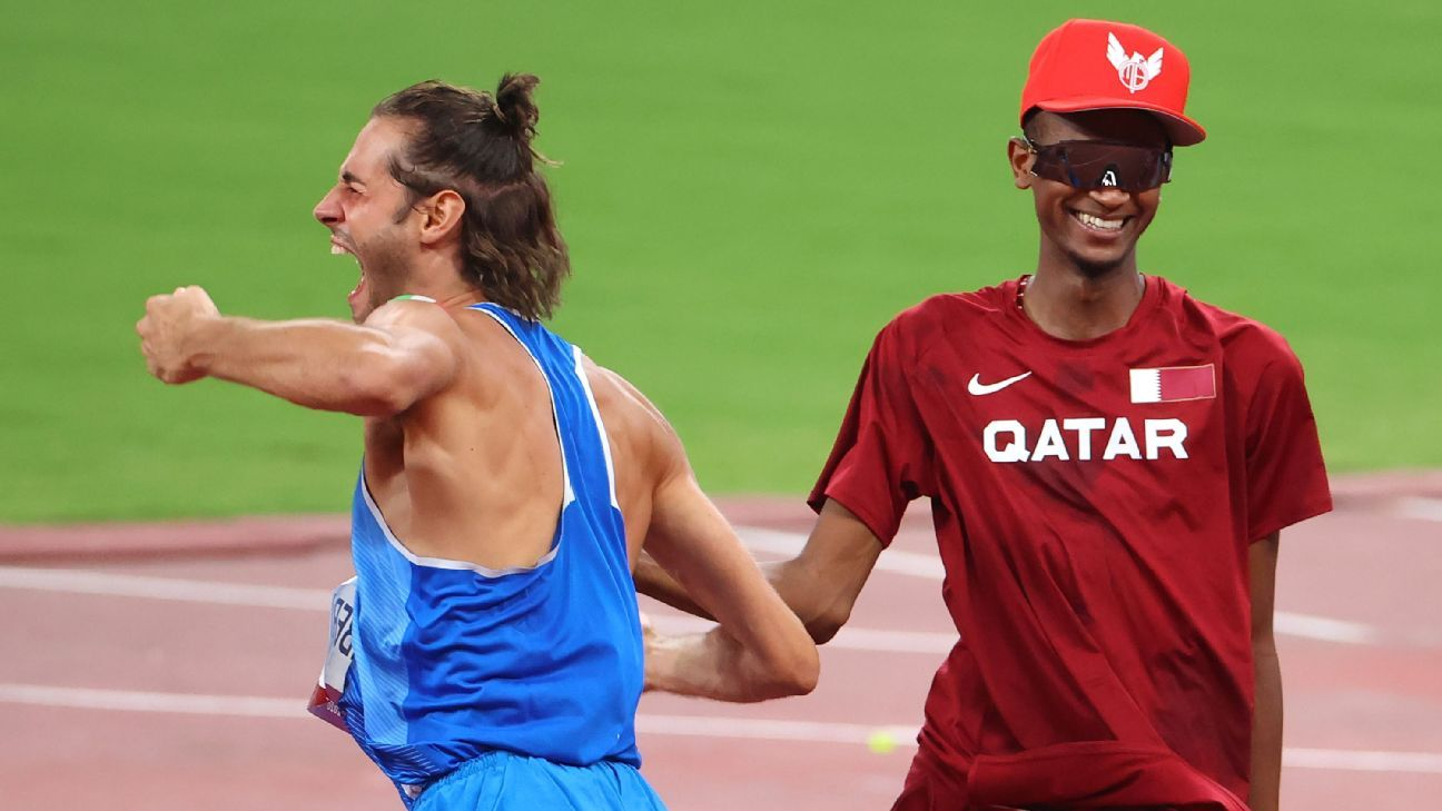 'Can we have 2?' Barshim, Tamberi share HJ gold