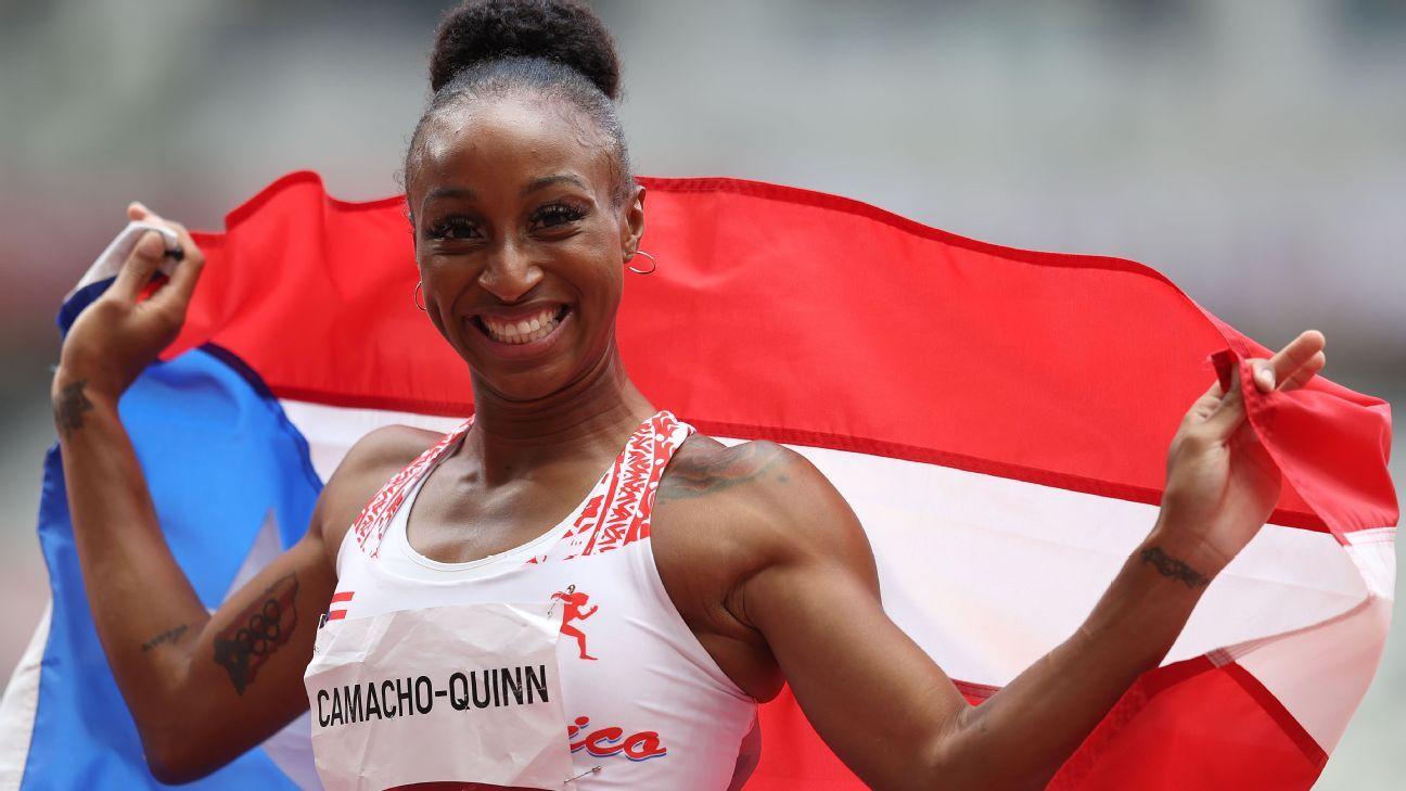 Upset nets Camacho-Quinn gold in 100m hurdles